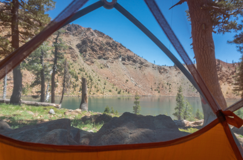 Naptime views of Summit Lake from my tent.