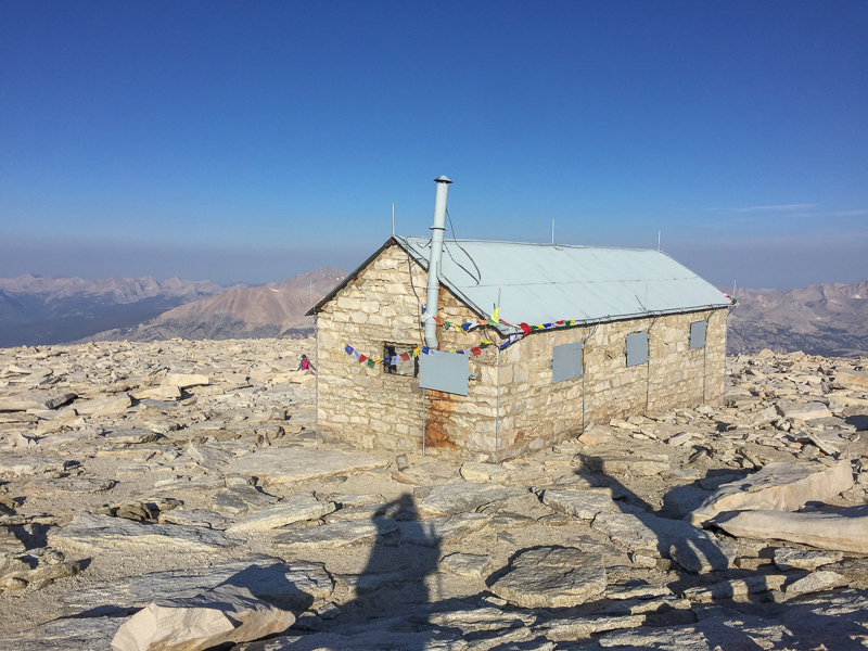 Summit hut. I have no idea what kind of shadow craziness is going on to my right.