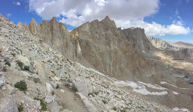 Peaks and pinnacles surrounding Mount Whitney.