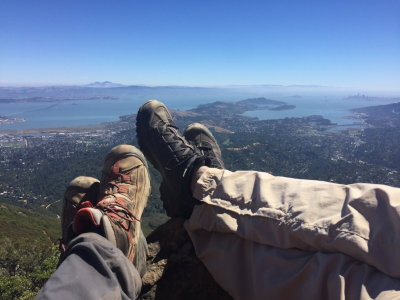 Mount Diablo to the east, San Francisco to the south.