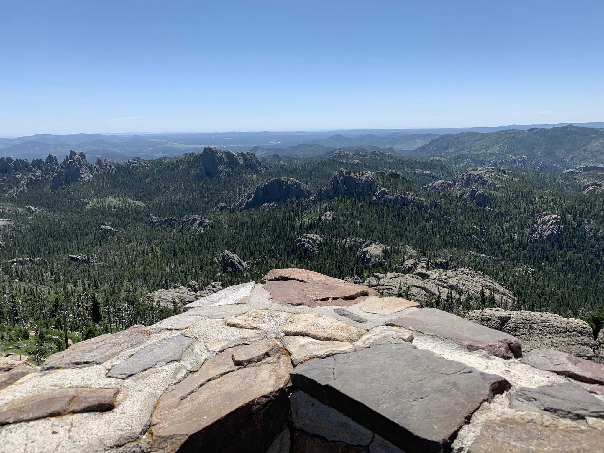 View of the Black Hills and Needles from Black Elk Peak.