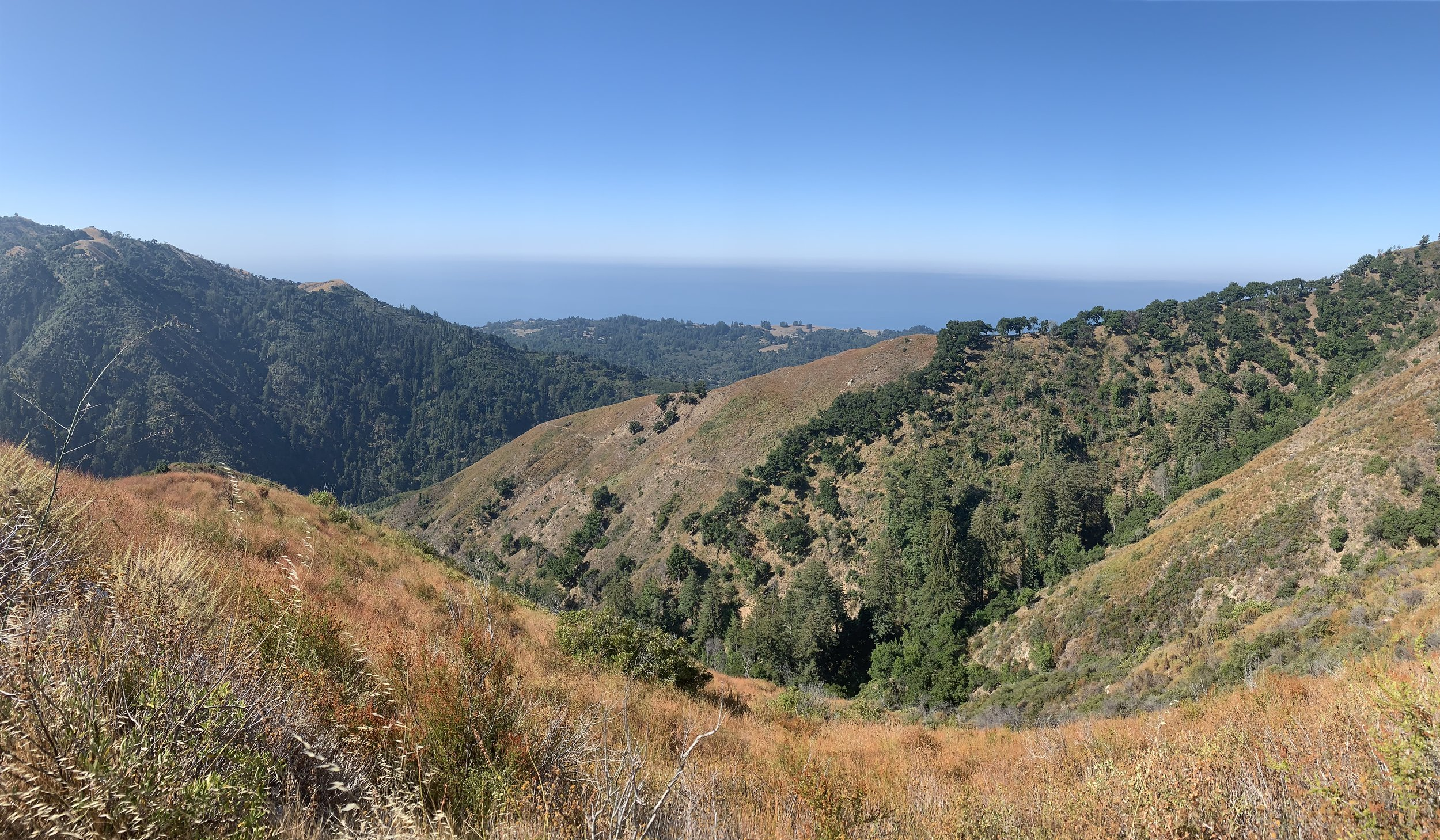 View of the Pacific Ocean from the Mount Manuel Trail