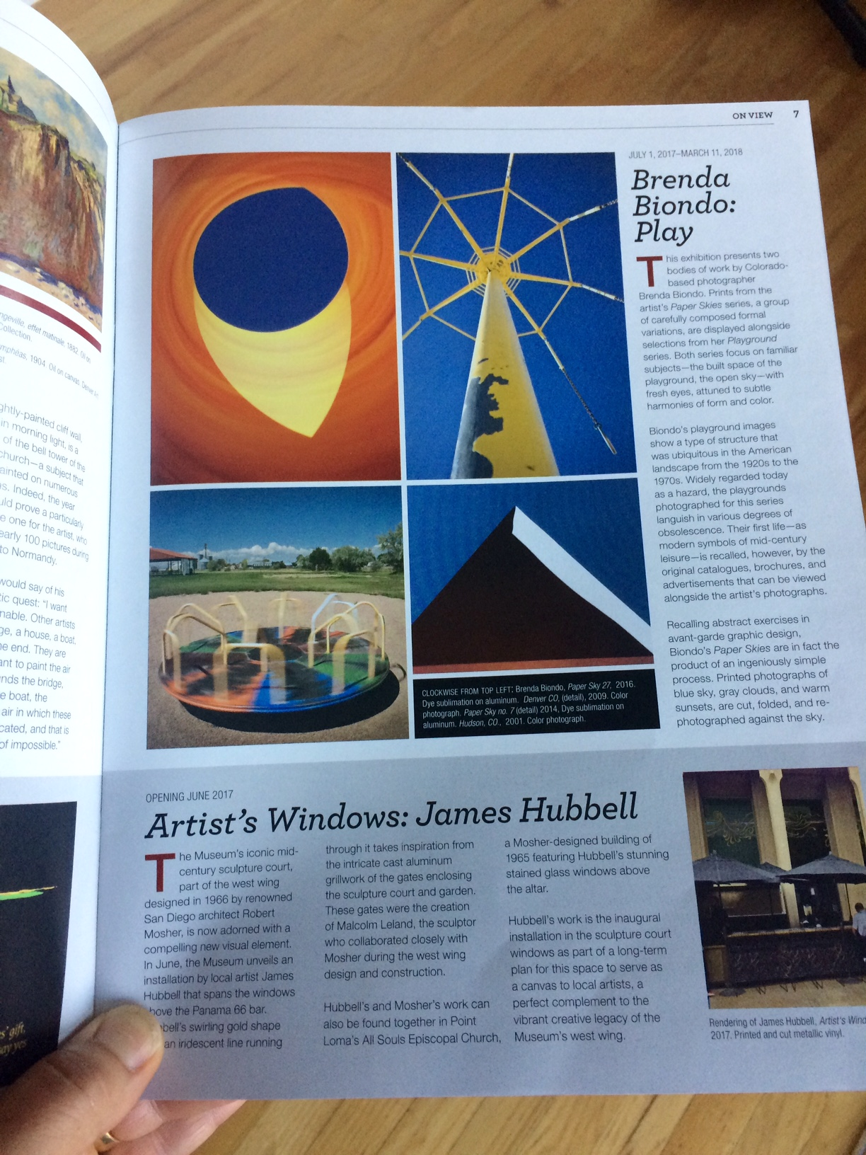 Article in the museum's membership magazine.