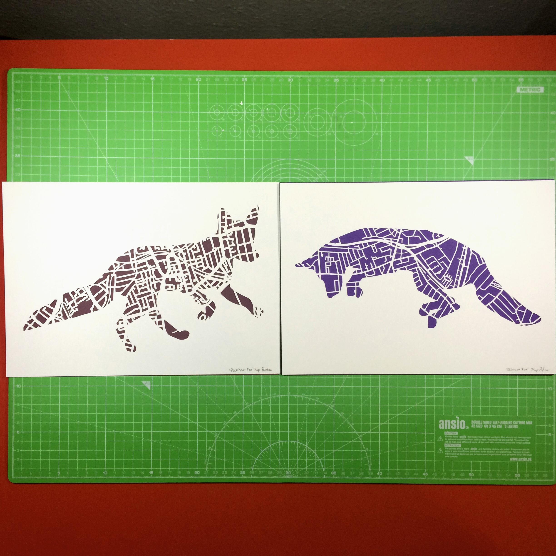 Peckham and Brixton Fox - Paper cuts -Kartegraphik.jpg