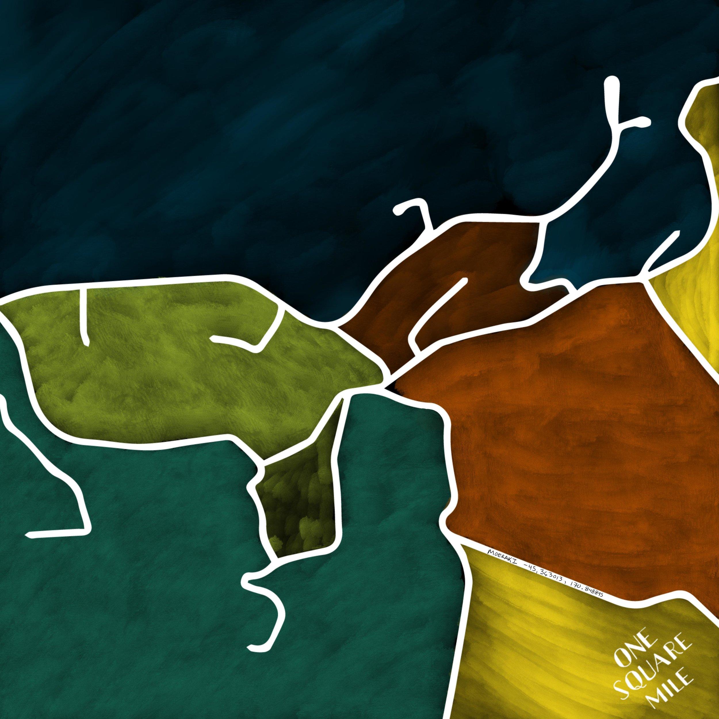 Digital Artwork: Moeraki Version 2