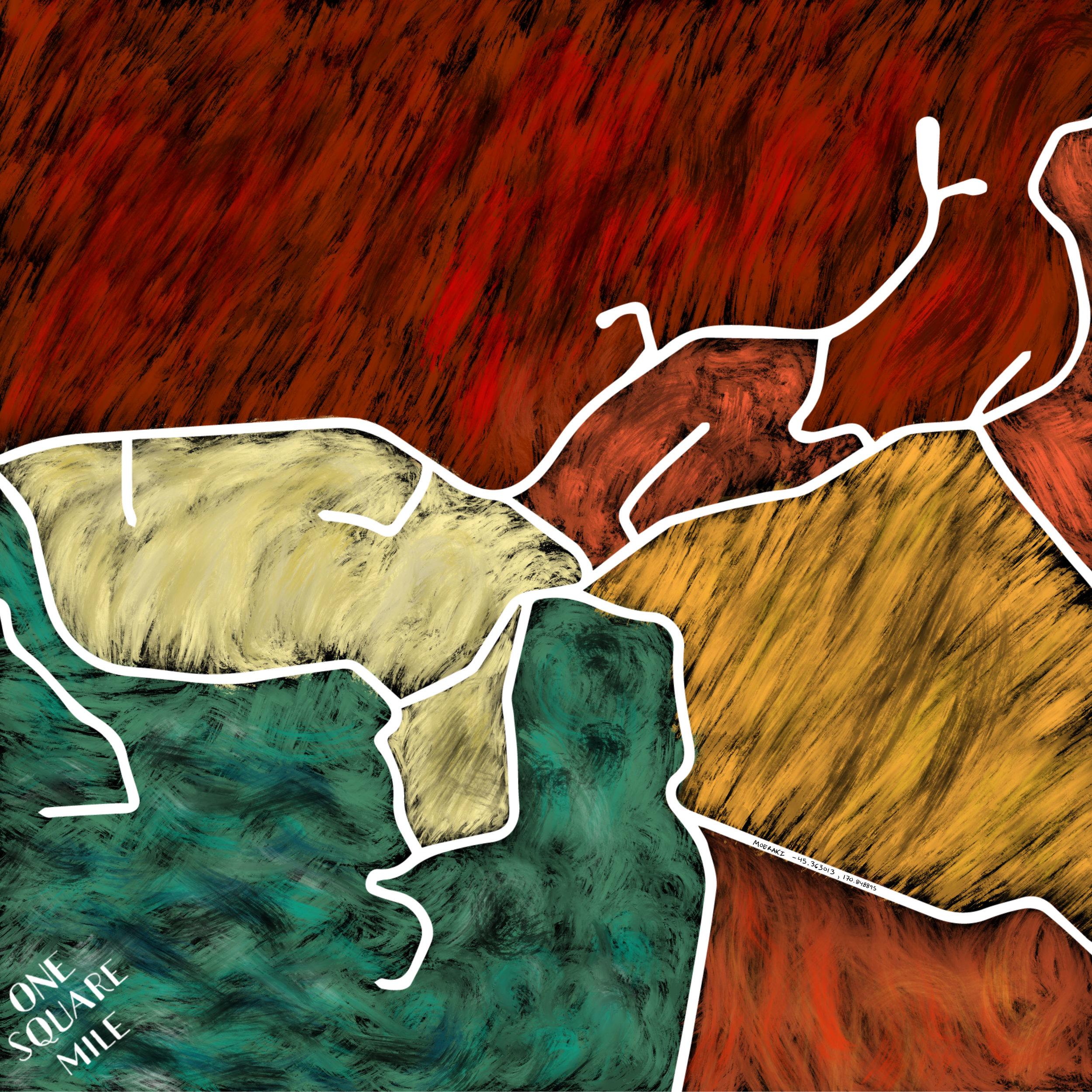 Digital Artwork: Moeraki version 1