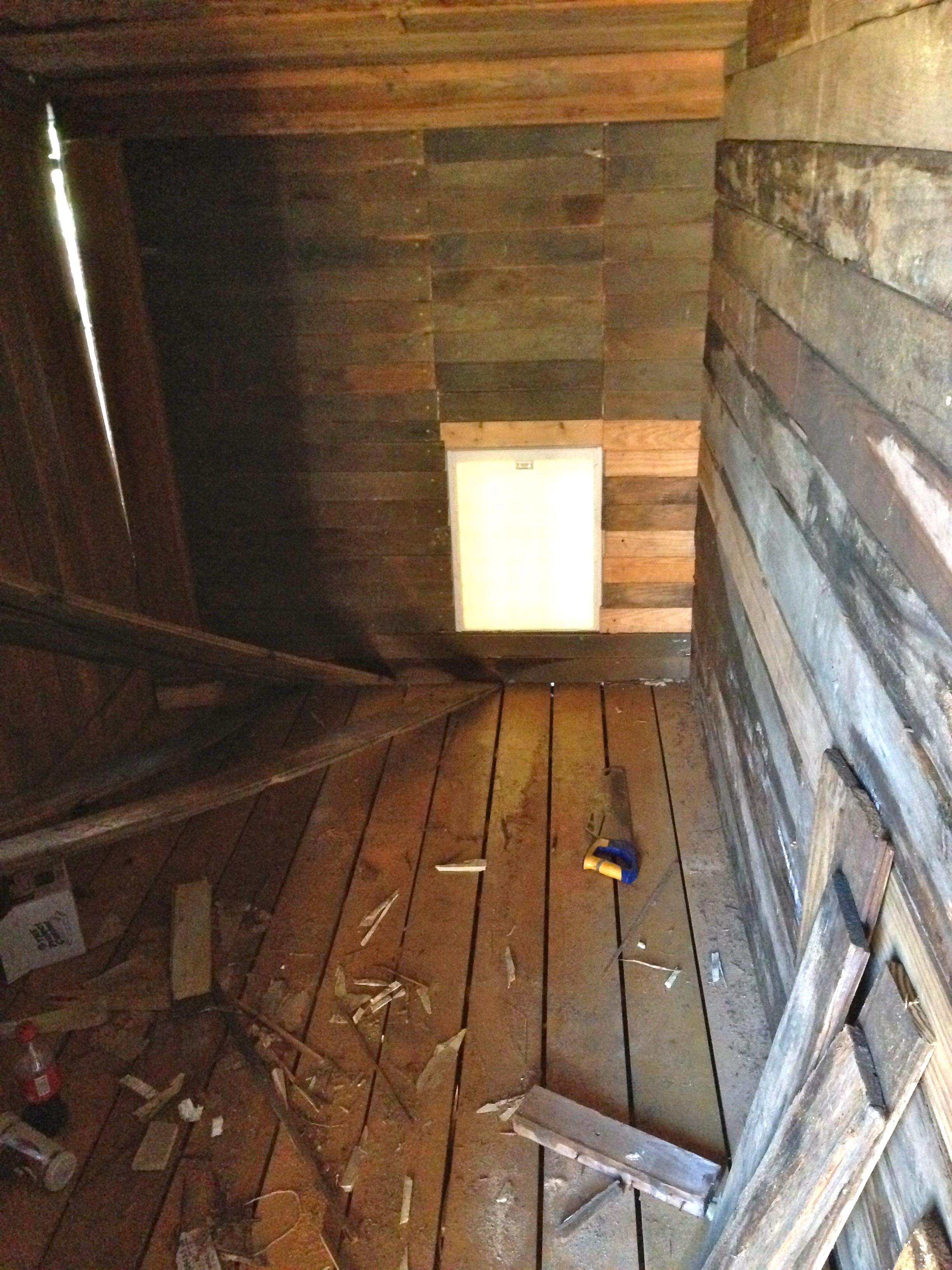 Red barn, left interior