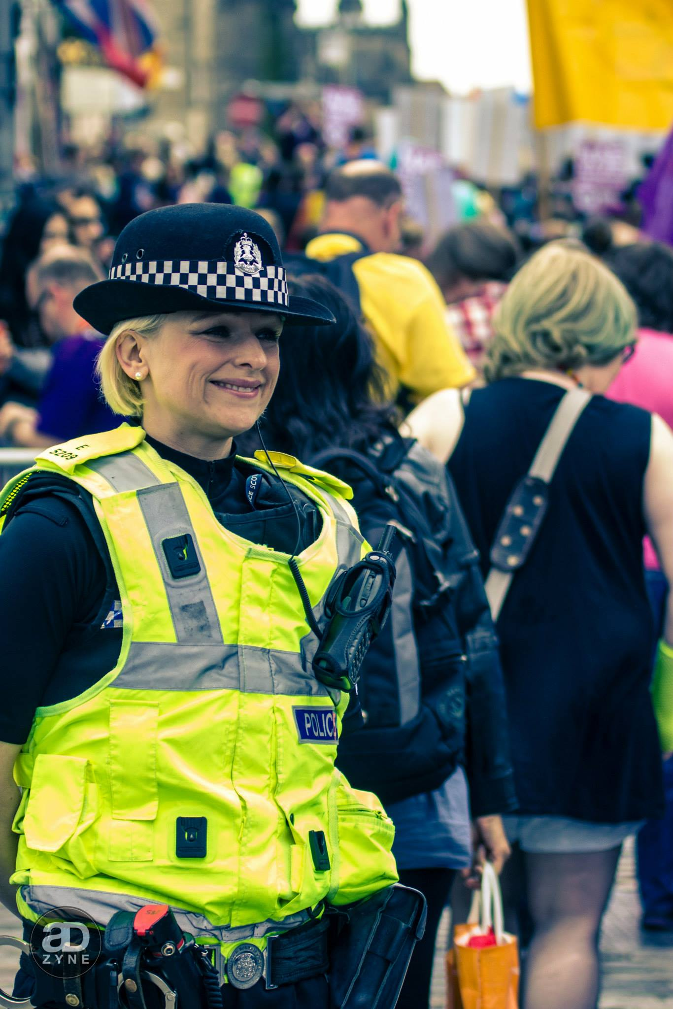 Policewoman at Edinburgh Pride