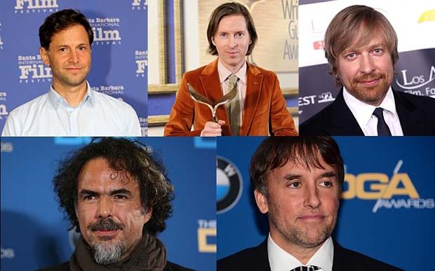 "Alejandro G. Iñárritu, ""BirdmanRichard Linklater, ""Boyhood""Bennett Miller, ""Foxcatcher""Wes Anderson, ""The Grand Budapest Hotel""Morten Tyldum, ""The Imitation Game"""