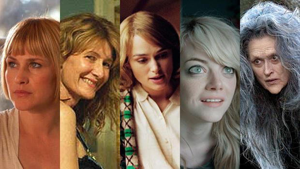 "Patricia Arquette, ""Boyhood""Laura Dern, ""Wild""Keira Knightley, ""The Imitation Game""Emma Stone, ""Birdman Meryl Streep, ""Into The Woods"""