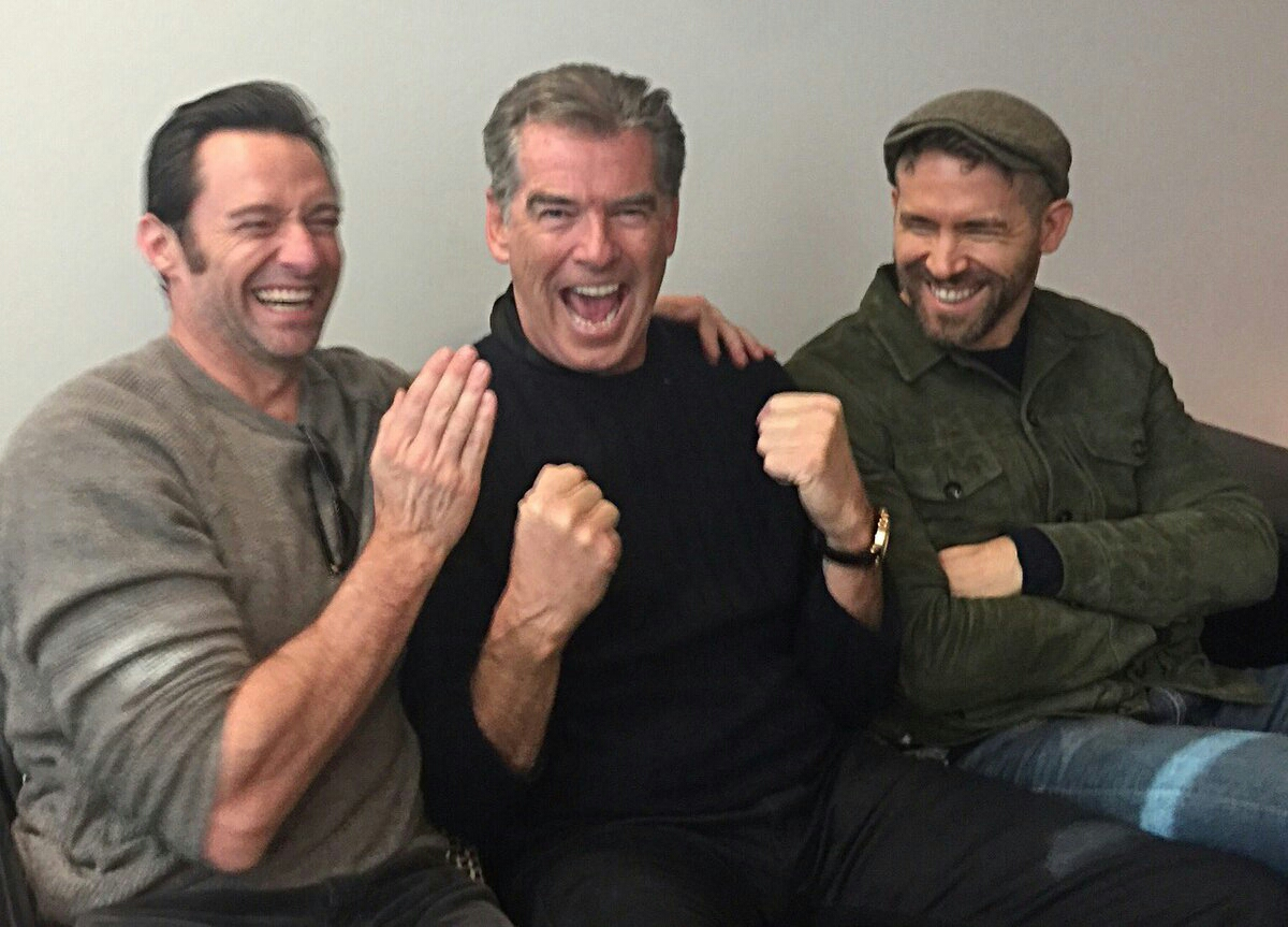 Hugh Jackman & Peirce Brosnan & Ryan Reynolds