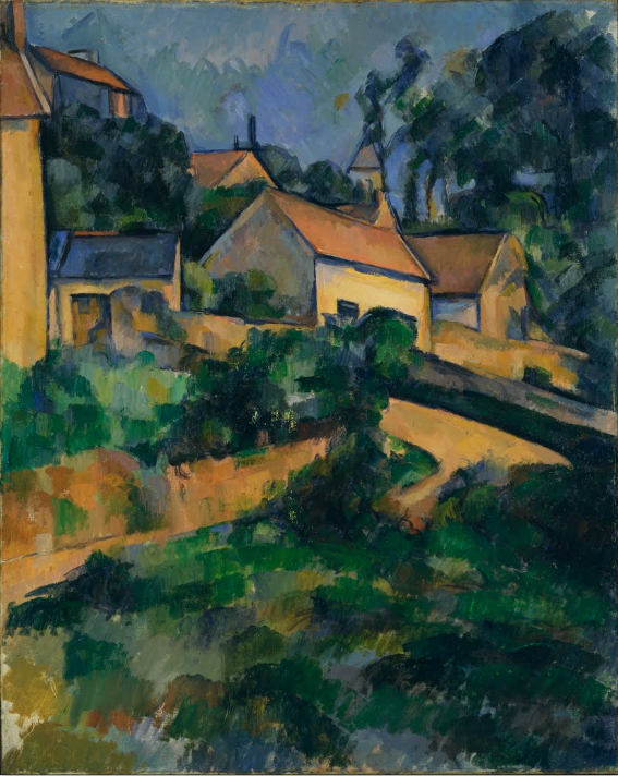 Turning Road at Montgerault - P. Cézanne (1898)