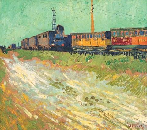 Railway Carriages (1888) - Vincent van Gogh - Museé Angladon, Avignon FR
