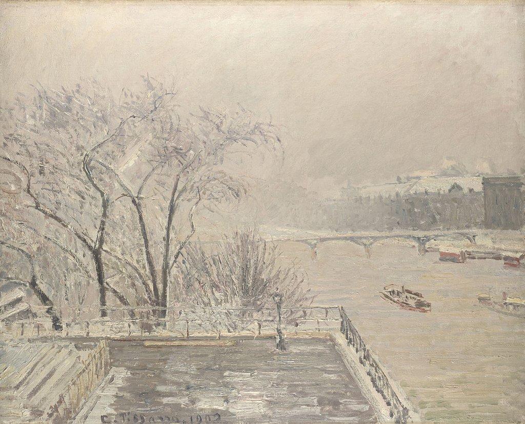 The Louvre Under The Snow - Camile Pissarro (1900)