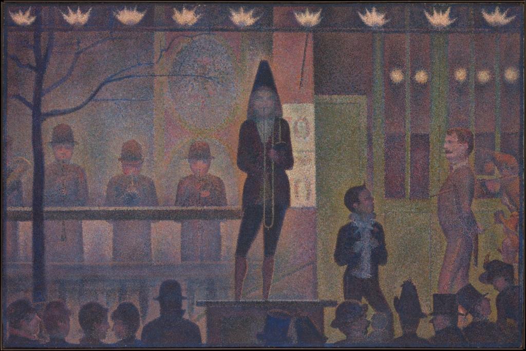 Geroges Seurat - Parade de Cirque (1887-88)MOMA
