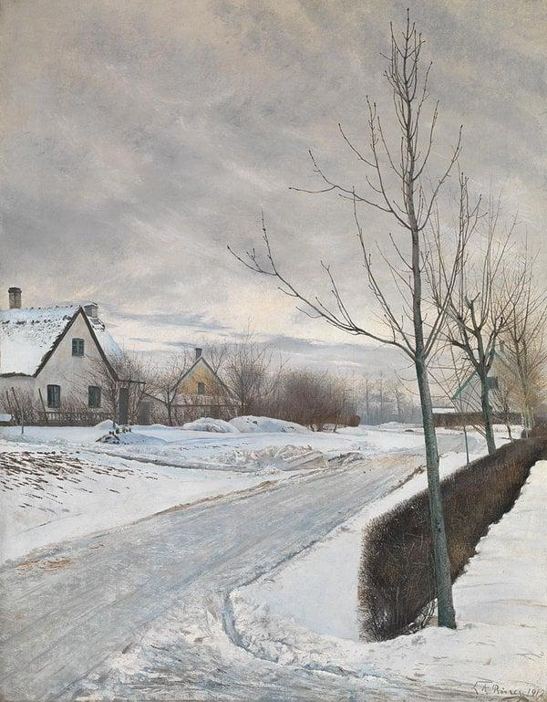 Lauritz Andersen - Ring's 'Road in the Village of Baldersbrønd.