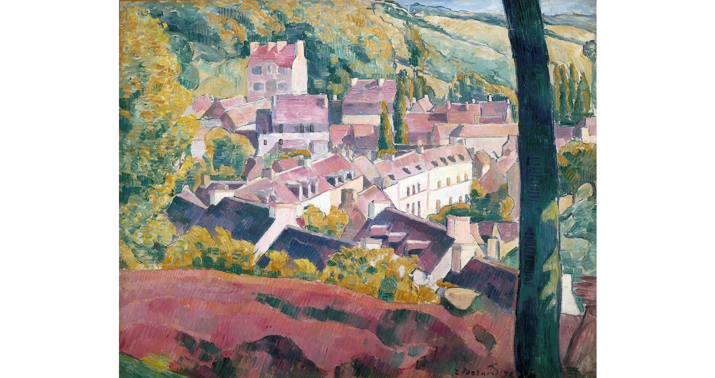 Pont-Aven Seen From the Bois D'Amour, 1892 - Émile Bernard