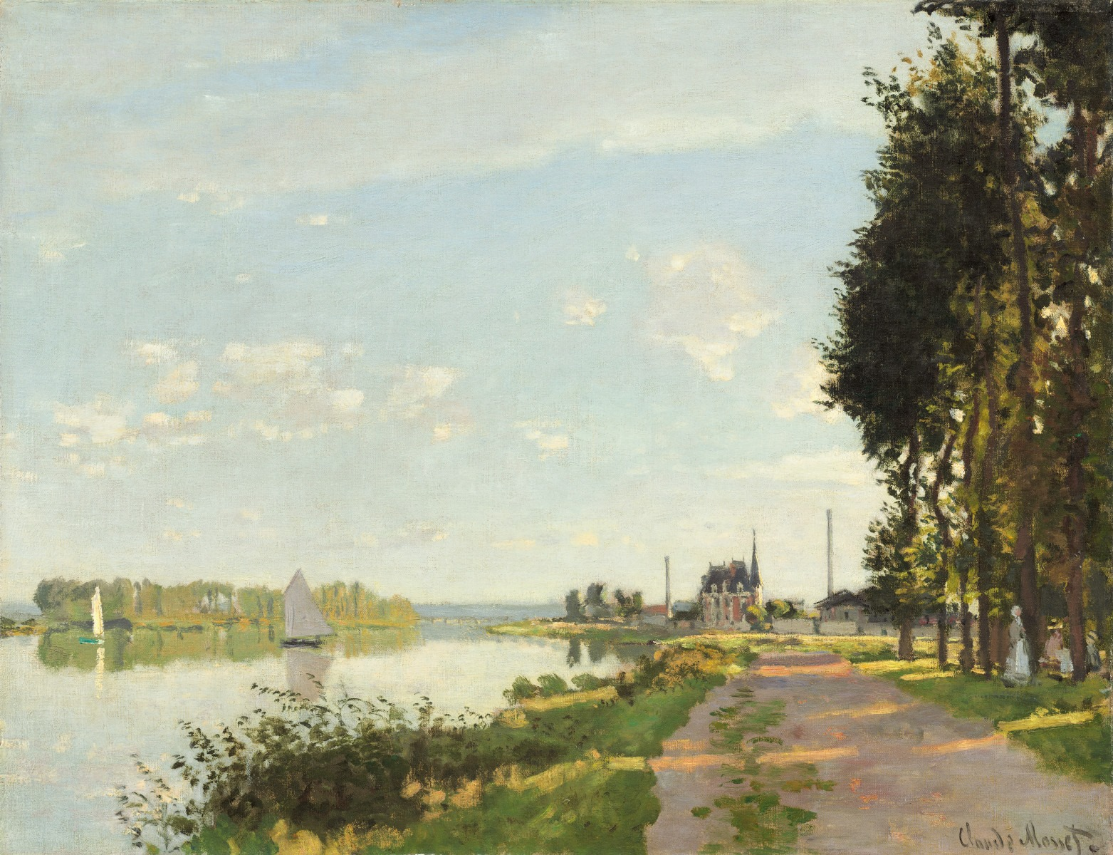 "Claude Monet, ""Argenteuil,"" c. 1872, oil on canvas, National Gallery of Art, Washington, Ailsa Mellon Bruce Collection"