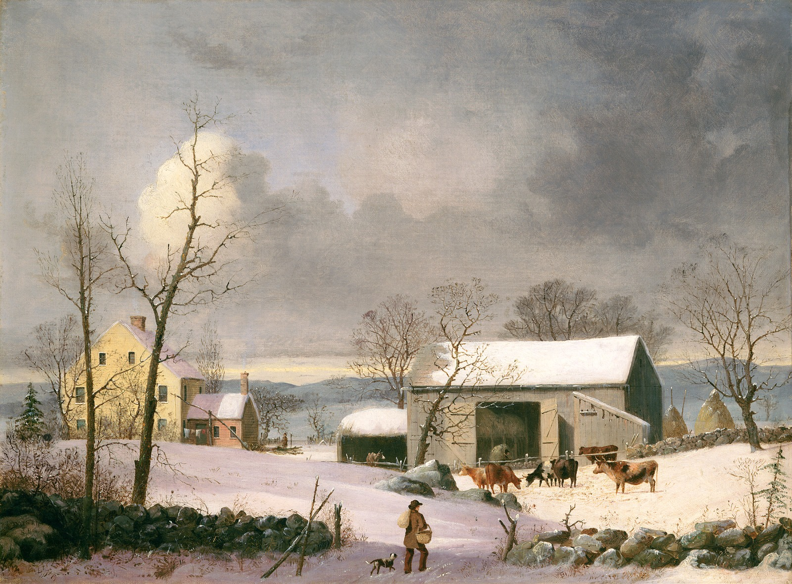 "George Henry Durrie's ""Winter in the Country,"" painted c. 1858"