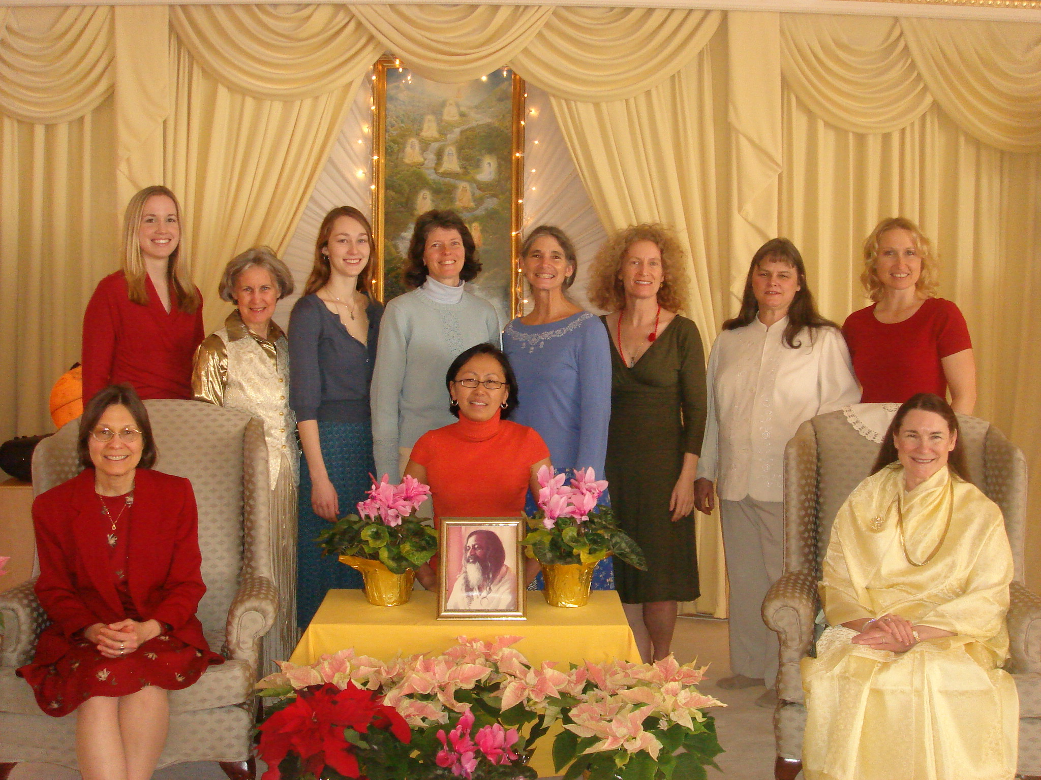 The group of ladies with whom I graduated the TM Sidhis Yogic Flying course.