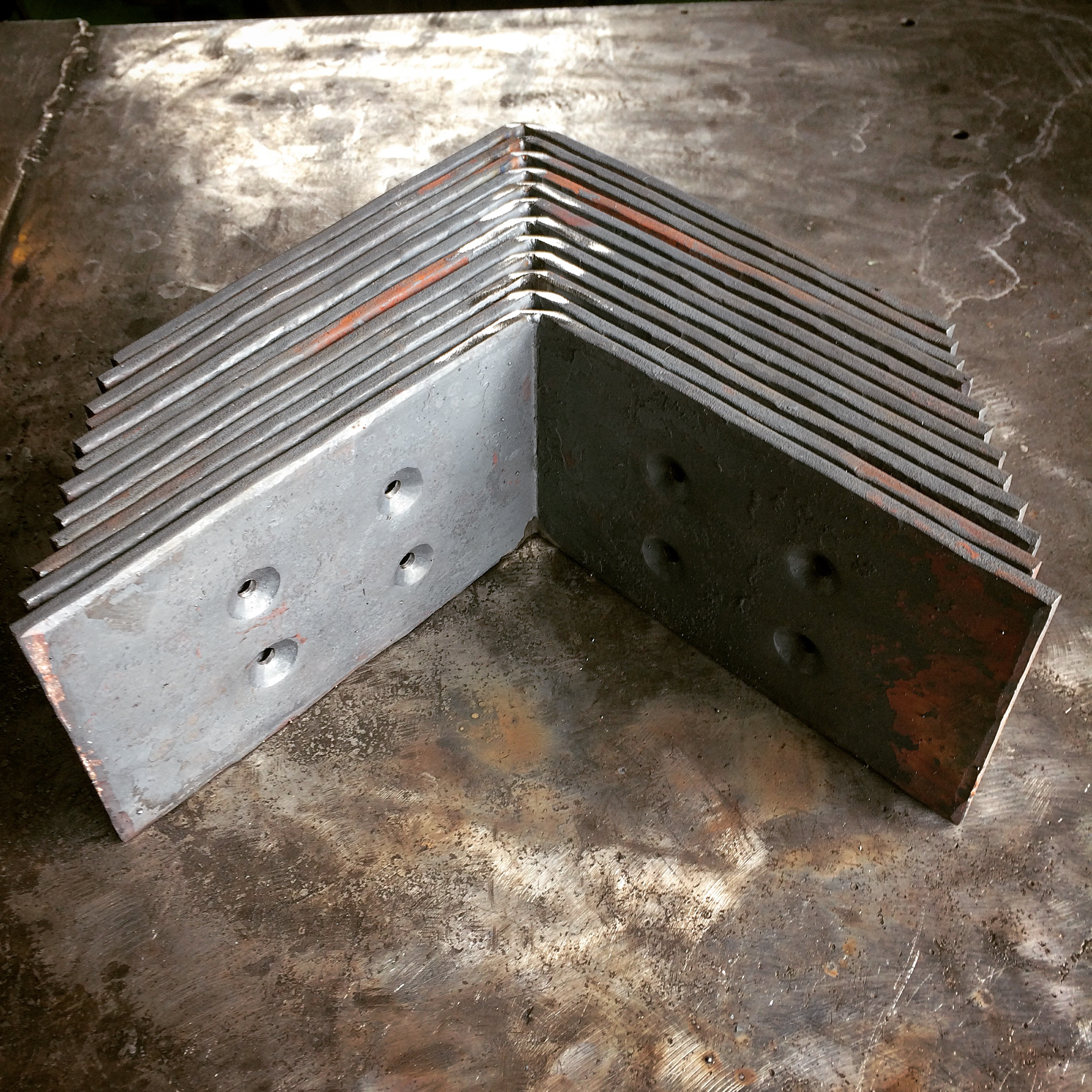 Brackets for large support beams on a Montana home
