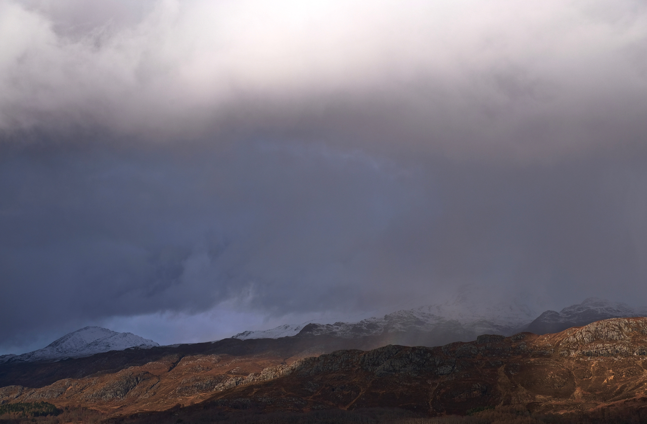 wintry squalls above Loch Maree