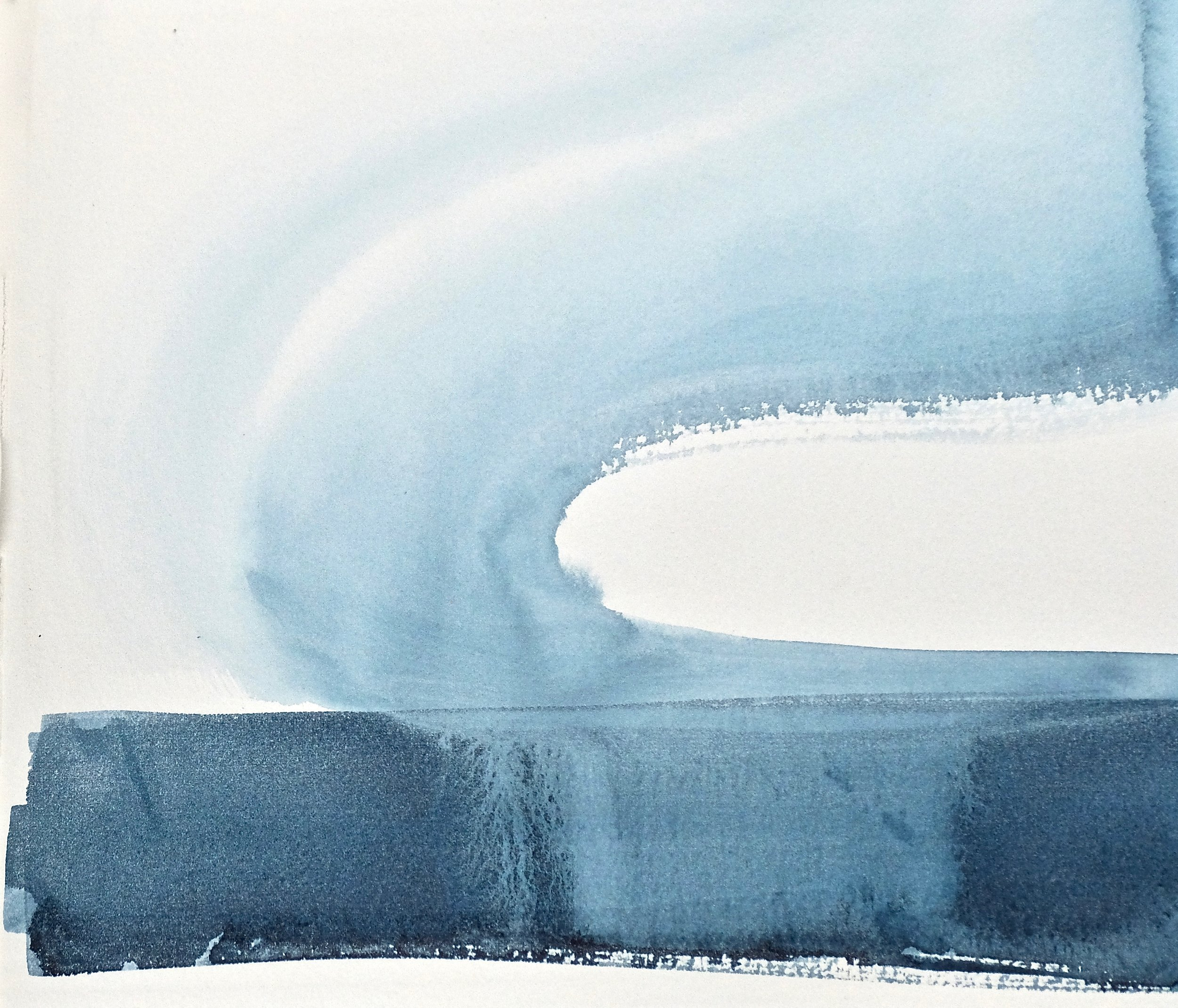 snow song Inner Sound #5, watercolour on TH Saunders Waterford 25 x 28cm