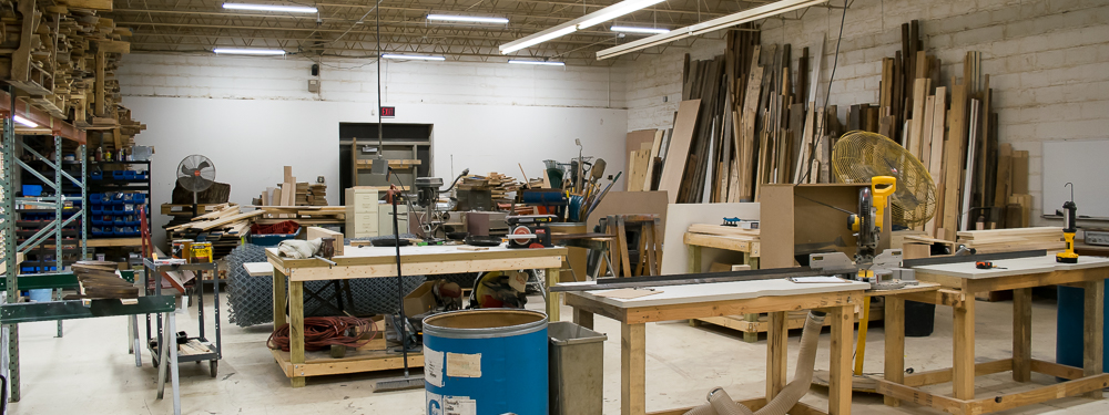 We've got lots of space, tools and materials for all kinds of manufacturing projects. And this is just a small fraction of our facility!
