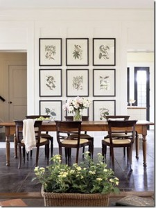 2 - symmetrical art on wall in dining room