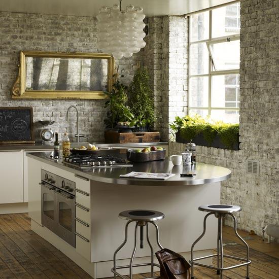 old wood floors - rustic-kitchen 1