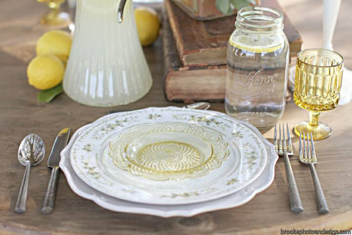 table setting with vintage finds - rabinovitch_rabinovitch_brooke_photography__design_10thanniversary0006_low