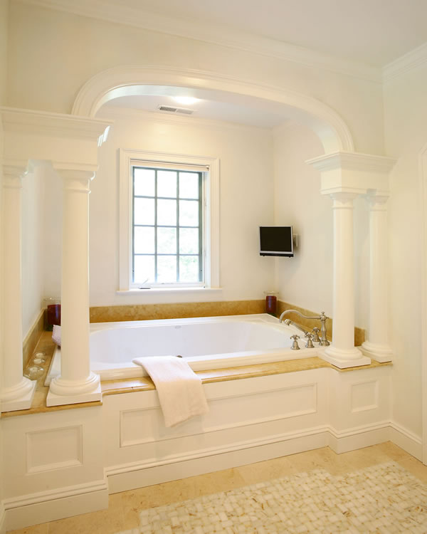 bathroom millwork detail