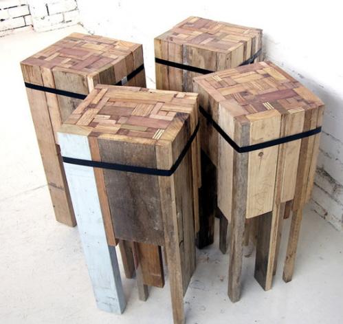 bar stools - rustic