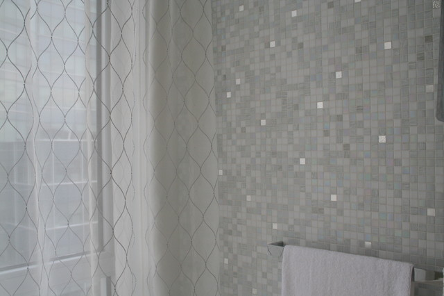 modern sheers in a bathroom
