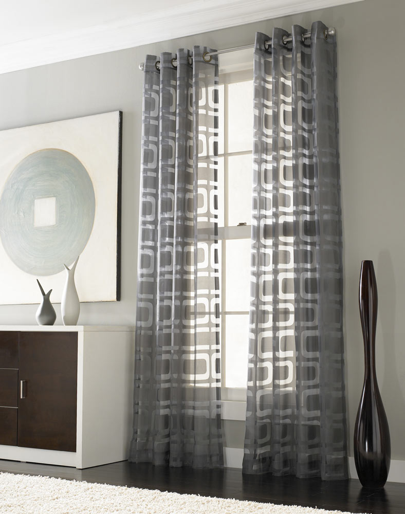modern window sheers