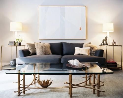 antique brass in modern living room - 51371d5a80cd