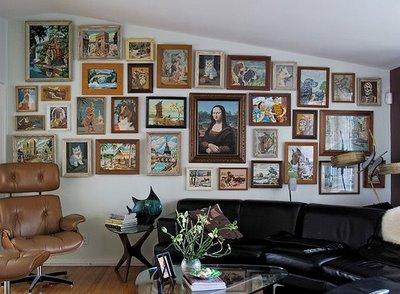 vintage paint by number - retro decor