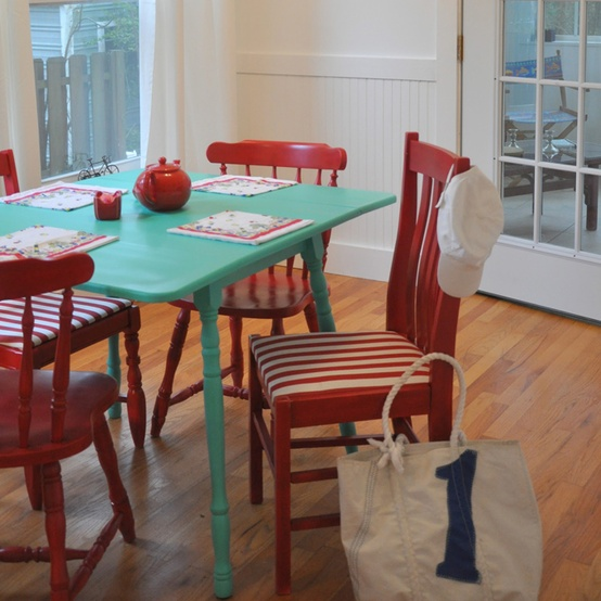 Red-Chairs-Aqua-Table