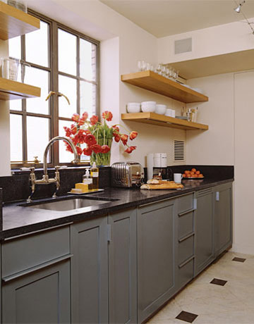 gray kitchen - open shelves - 1-small-kitchens-xlg