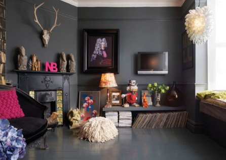 black room with great accessories