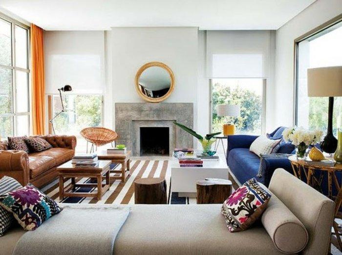 navy blue velvet sofa couch (2)