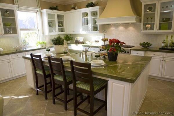 15- irish green granite white backsplash