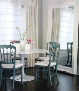leaning-mirror-white-dining-room
