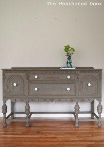 Driftwood Buffet with White Knobs WD 3