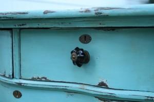 anthropologie knob on old painted dresser