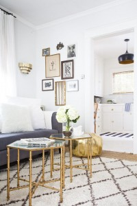21 - gray and white living room gold accents