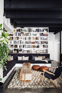 21 - living room with black and white retro vibe