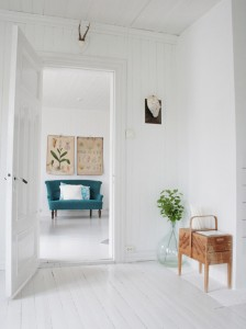 painted wood floors - white with wood accents