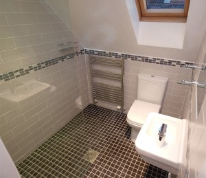 tiny wet room bathroom