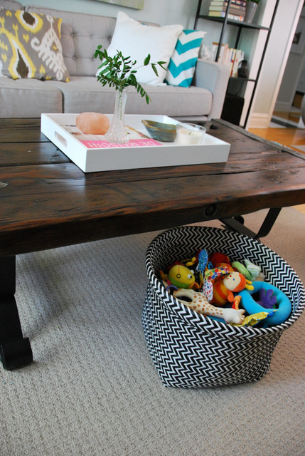 toys and 'coffee table' stuff happens, so resolve to have a spot for these items in plain sight to keep things looking neat
